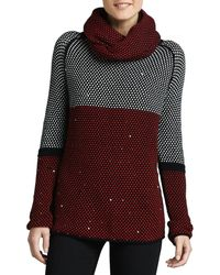 Lisa Todd | Birdseye-knit Sweater W/ Removable Scarf | Lyst