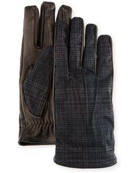 Etro - Tessuto/napa Leather Gloves - Lyst