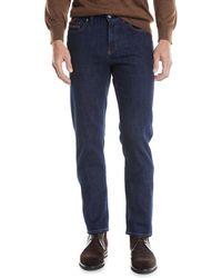 Ermenegildo Zegna - Men's Luxe Straight-leg Denim Jeans - Lyst