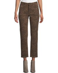 T By Alexander Wang - Cult Cropped Leopard-print Jeans - Lyst