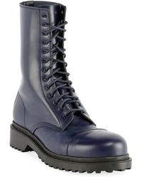 Balenciaga - Men's Leather Combat Boots - Lyst
