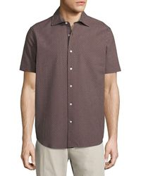 Neiman Marcus - Floral Seersucker Short-sleeve Sport Shirt - Lyst