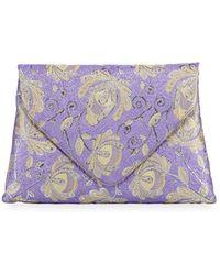 Dries Van Noten - Jacquard-embroidered Clutch Bag - Lyst