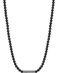 John Hardy - Men's Classic Chain Sterling Silver Necklace With Onyx Beads - Lyst