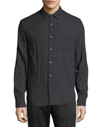 Vince - Men's Double-face Cotton Button-front Shirt - Lyst