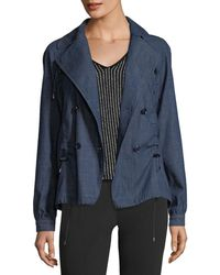 Emporio Armani - Double-breasted Chambray Jacket - Lyst