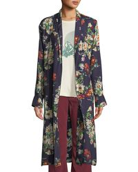 The Great - The Robe Floral Open-front Long Jacket - Lyst
