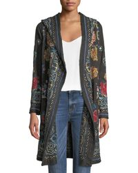 Johnny Was - Sakara Hooded Duster Jacket With Embroidery - Lyst
