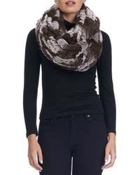 Gorski - Knit Fur Infinity Scarf - Lyst
