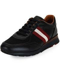 Bally - Men's Leather Trainer Sneakers W/trainspotting Stripe - Lyst