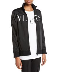 Valentino - Vltn Logo Zip-front Jersey Track Jacket - Lyst