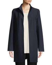 Eileen Fisher   Long Washable Stretch Crepe Jacket   Lyst