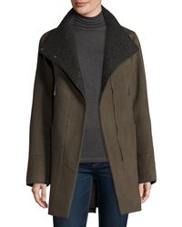 Elie Tahari - Double-faced Wool-blend Swing Coat - Lyst