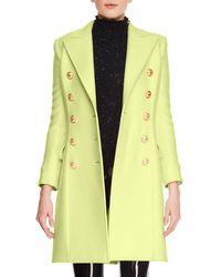 Balmain - Cashmere-wool Ten-button Knee-length Coat - Lyst