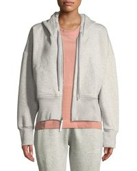 adidas By Stella McCartney - Essentials Zip-front Cotton Fleece Hoodie - Lyst