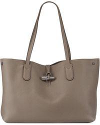 1dfa6c8a1929 Longchamp - Roseau Essential Medium Leather Shoulder Tote Bag - Lyst