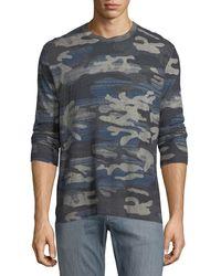 Robert Graham - Triton Linen-blend Long-sleeve Camo T-shirt - Lyst