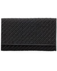 Ermenegildo Zegna - Pelle Tessuta Woven Leather Iphone 7 Wallet - Lyst