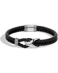 John Hardy - Men's Classic Chain 4mm Woven Leather Bracelet - Lyst