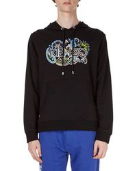 KENZO - Logo Paisley-graphic Pullover Hoodie - Lyst
