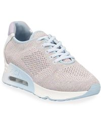 e028784fd72d Ash - Lucky Shimmery Knit Wedge Sneakers - Lyst