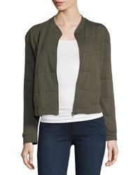 Neiman Marcus - Quilted Viscose Bomber Jacket - Lyst