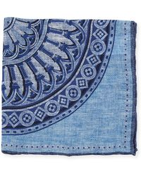 Brunello Cucinelli - Large Medallion-print Pocket Square - Lyst