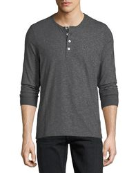 Tom Ford - Cotton Henley T-shirt - Lyst