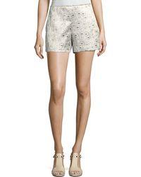 Trina Turk - Metallic Daisy Jacquard Shorts - Lyst