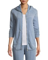 ATM - Croma Wash Zip-front French Terry Hoodie Sweatshirt - Lyst