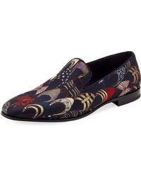 2a8c1131ab47 Lyst - Ferragamo Lord 2 Velvet Slip-on Loafer in Blue for Men