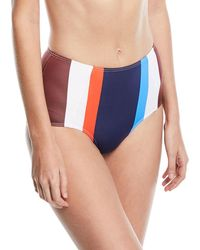 Mei L'ange - Ava High-waist Striped Swim Bikini Bottoms - Lyst