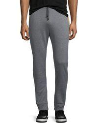 Ferragamo | Heathered-knit Cotton Sweatpants | Lyst