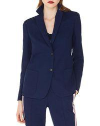 Akris - Satine Contrast Back-collar Single-breasted Wool Jacket - Lyst