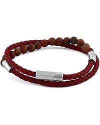 Tateossian | Men's Beaded Leather Wrap Bracelet | Lyst