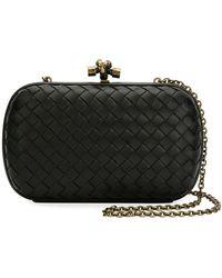 Lyst - Bottega Veneta Intrecciato Medium Woven Clutch Bag in Black 3e4ac90136524