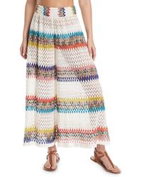 Missoni - Wavy-knit High-rise Coverup Pants - Lyst