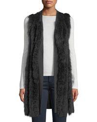 Neiman Marcus - Luxury Cashmere Fur-striped Vest - Lyst
