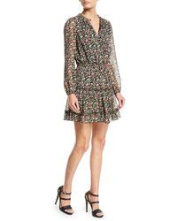 Rebecca Minkoff - Rosemary Long-sleeve Floral-print Dress - Lyst