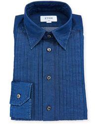 Eton of Sweden - Men's Slim-fit Denim Bib-front Tuxedo Shirt - Lyst
