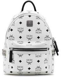 MCM - Stark Visetos Small Side-stud Backpack - Lyst