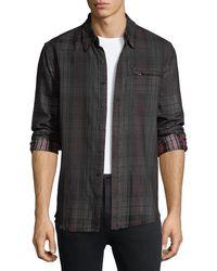True Religion - Coated Plaid Punk Shirt - Lyst