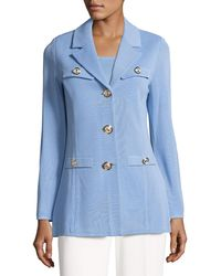 Misook | Dressed Up Button-front Jacket | Lyst