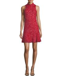 Parker Black - Marley Sequin Sleeveless Mini Dress - Lyst