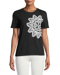 Tory Burch - Geometric Print T-shirt - Lyst