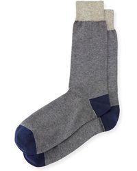 Neiman Marcus   Colorblock Cotton Socks   Lyst