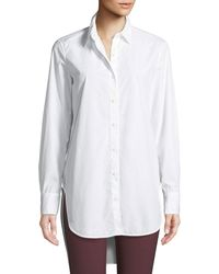 Rag & Bone - Nightingale High-low Button-front Shirt - Lyst