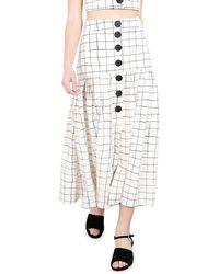 WHIT - Charlie Grid-print Long Skirt - Lyst