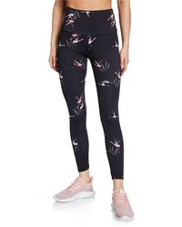 Onzie - High-rise Flamingo-print Leggings - Lyst