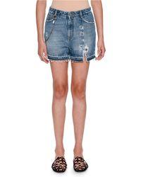 Ermanno Scervino - Embellished Five-pocket Jean Shorts - Lyst